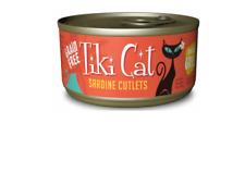 12 Cans of Tiki Cat Sardine Cutlets Tahitian Grill Grain Free Wet Cat Food 2.8Oz