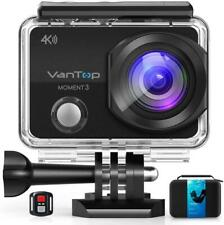 VanTop Moment 3 4K Action Camera w/Gopro Compatible Carrying Case,Remote Control