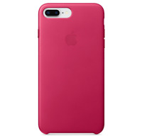 Rosa Fuchsia Apple Echt Original Leder Schutz Hülle Case iPhone 8/7 Plus