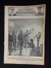 Original WW1 Penny War Weekly Publication Volume 1 No:4 September 1914