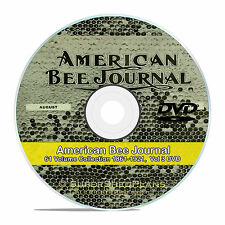 American Bee Journal Magazine, Vintage Honey Bee Care, 61 Vol-1861-1921, CD V59
