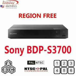 Sony BDP-S3700 Region Free DVD and Blu-Ray Disc Player PAL/NTSC