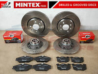 FOR RENAULT CLIO SPORT 172 182 FRONT REAR DRILLED & GROOVED BRAKE DISCS PADS