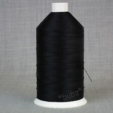 Heavy Duty Nylon con legante 12 terreno 2,000m nero per cucire Leather Craft Riparazione