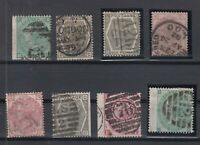 X2436/ GREAT BRITAIN – VICTORIA – 1862 / 1883 USED CLASSIC LOT – CV 1425 $