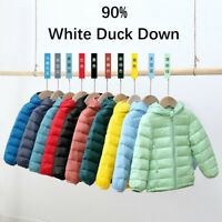 Ultra Light Kids 90% White Duck Down Puffer Jacket Portable Coats Boys & Girls