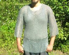 Medieval Aluminium Butted ChainMail Armor Haubergen Long Shirt.(L size)