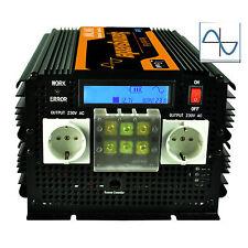 Convertisseur 3500W 7000W 12V 220V Inverter Pure Sine Wave onduleur LCD Display