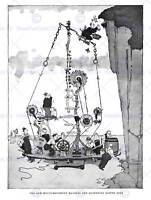 HEATH ROBINSON MACHINE GATHERING EASTER EGG ART PRINT POSTER PICTURE HP330