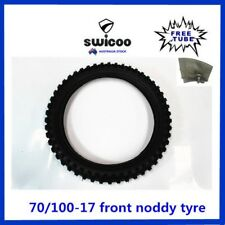17 INCH 70/100-17 FRONT KNOBBY TYRE WITH FREE TUBE PIT PRO DIRT BIKE TRAIL BIKE
