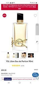 YSL Libre EAU De Parfum 90ml BN RRP £104