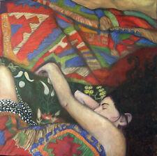 Print on Fine Paper Oil Painting figurative woman Israeli Fine Art Anat