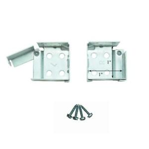 """METAL Swing Gate MICRO or MINI BLIND End Brackets for 1"""" X 1"""" Square Headrails"""