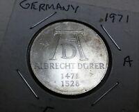Germany - Federal Republic 5 Mark, 1971, 500th Anniversary - Birth of Albrecht …