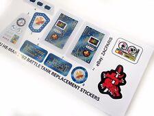 MOTU HE-MAN Masters of the Universe custom stickers for Battle Tank 2002 +Bonus!