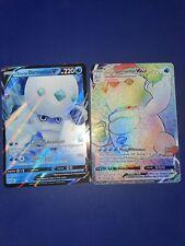 2x Galarian Darmanitan Vmax Rainbow Rare & V Cards-New/Pack Fresh-Vivid Voltage
