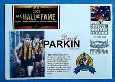 AFL HALL OF FAME 2002 DAVID PARKIN MCG FIRST DAY COVER