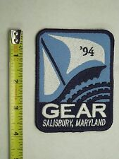 1994 Gear Salisbury, Maryland Iron on Patch - Sail Boat Image