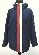 OBERMEYER Jacket Juniors L/Mens S - W's M Blue Red White Coat Ski Winter Patches