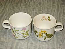 ROYAL WORCESTER PALISSY - WILD FLOWERS  - CUP X 2 - VINTAGE