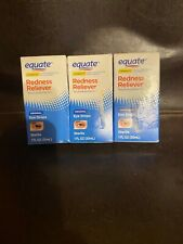 3 Equate Original Redness Reliever Sterile Eye Drops 1 fl oz each exp 8/22
