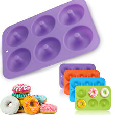 Silicone Donut Mold Doughnut Maker Mould Non-Stick Cupcake Muffin Pan Tray Bake