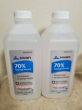 (2 pack) Swan 70% Isopropyl Alcohol, 16oz Brand New, Antibac, sealed, First-Aid