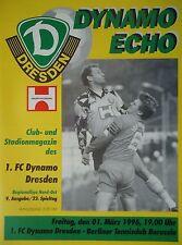 Programm 1995/96 FC Dynamo Dresden - Te Be Berlin