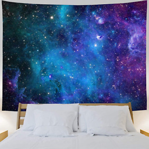 Galaxy Tapestry Blue Starry Sky Tapestry Wall Hanging 30x40 inch 3D Cosmic Unive