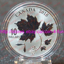 2016 - Canada - Canadian Maple Leaves - $10 1/2 oz Specimen Pure Silver Coin