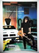 PUBLICITE-ADVERTISING :  Guitare IBANEZ  05/2002 Patrick Rondat,Pontiac
