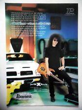 PUBLICITE-ADVERTISING :  Guitare IBANEZ  05/2002 Patrick Rondat,Pontiac