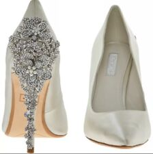 012a098aa0 Dune Bridal Collection Be Wedd Embellished Stiletto Court Shoes Uk7 -ivory()