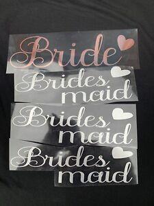 Bridesmaid, Bride, Team Bride Iron On T-shirts Transfer Vinyl Wedding Party