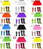 1980s FANCY DRESS HEN PARTY COSTUME SET NEON UV FLO TUTU SKIRT LEG WARMER GLOVES