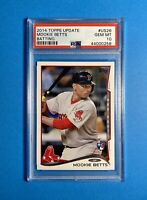 2014 Topps Update Batting Mookie Betts ROOKIE RC #US26 PSA 10 GEM MINT