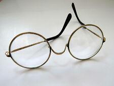 Large Round Wire Rim Brass Eyeglasses Vintage Eye Wear Prescription Glasses