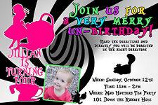 Mad Hatter Tea Party Alice in Wonderland Invitation YOU PRINT Digital File