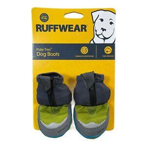 "Ruffwear Polar Trex Winter 2 Dog Boots Vibram In Forest Green  Sz 1.5"""