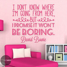 I Dont Know Where Im Going From Here David Bowie Quote Vinyl Wall Decal Sticker