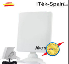Antena ideal interiores ADAPTADOR WIFI USB 9000WN 6800mW NETSYS PANEL 98dBi