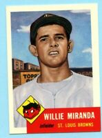 1953 Topps Archives #278 Willie Miranda - St. Louis Browns