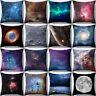 UK_ HK- Volcano Planet Starry Sky Throw Pillow Cover Cushion Case Home Sofa Deco