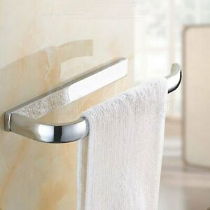 Polished Chrome Wall Mounted SquareTowel Ring Bathroom Towel Hanger Holder