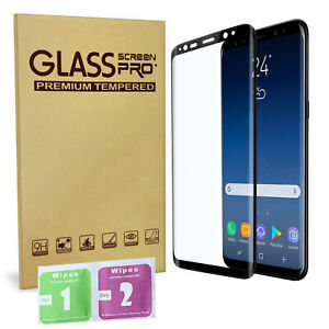 For Samsung Galaxy S8 PLUS Tempered Glass Screen Protector Full Curved UK New