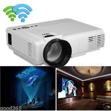 1000 Lumens LCD Projector LED Home Theater USB TV 3D HD 1080P Business VGA/HDMI