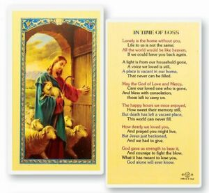 In Time of Loss, Fratelli Bonella Laminated Prayer Card, 25 Pack, From Italy