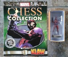 Marvel Chess Collection #31 Klaw Black Pawn Resin Figure & Magazine