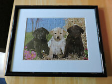 Puppy Puzzle Art framed with Mat 8 x 10