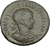 CONSTANTINE II Jr Constantine the Great son Ancient Roman Coin Wreath i42334